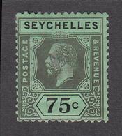 Seychelles 1917  75c    SG93   MH - Seychelles (...-1976)