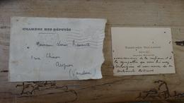 Carte De Visite De Edouard DALADIER Deputé Ancien Ministre De 1934 ......... 4914 - Cartes De Visite