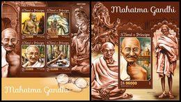 S. TOME & PRINCIPE 2016 - M. Gandhi, Indra, Ganesha - YT CV=36 €, 5323-6 + BF932 - Hinduism