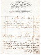 CG - Fattura Ditta Pasquale Moltani - Milano 22/7/1840 - Fabbrica Oggetti Di Chiesa - Italia