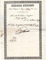 CG - Fattura Ditta Isidoro Curioni - Milano 16/2/1839 - All'insegna Di S: Luigi - Italia