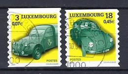 Luxemburg 2001, Nr. 1537-38, Alte Dienstautos Der Post Gestempelt Luxembourg - Used Stamps
