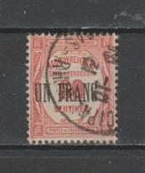 FRANCE / 1929-1931 / Y&T Taxe N° 63 : Recouvrements UN FRANC Sur 60 C Rouge - Oblitéré 1931 10. SUPERBE ! - Postage Due