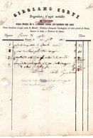 CG - Fattura Ditta Girolamo Corti - Varese 2372/1853 - Candelieri E Arredi Di Chiesa - Italia