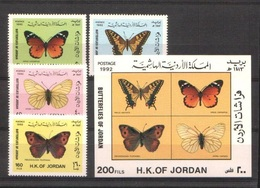 Jordanie 1333/1336 ** + BF 54 ** Papillons Butterflies Mariposas Schmetterlinge Farfalle - Papillons