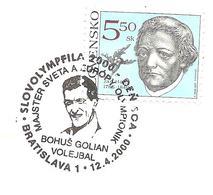 2000 Bohus Golian Champion Du Monde, D'Europe Et Médaillé Olympique Avec L'équipe De Tchécoslovaquie De Volley Ball. - Volley-Ball