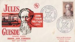 Enveloppe  FDC  1er  Jour   FRANCE    Jules  GUESDE   Oblitération  Grand  Format   PARIS  195 - FDC