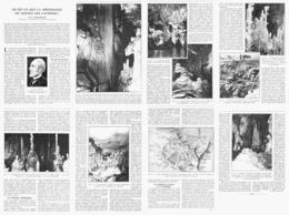 LA SPELEOLOGIE  ( PADIRAC / AVEN ARMAND / GOUFFRE Du TROU Du TORO / GROTTE De DARGILAN ) 1933 - Ciencia & Tecnología