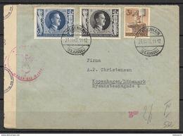 Deutsches Reich 1943  - Censored Letter To Denmark - Briefe U. Dokumente