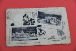 Caserta Parco Reale Fontana Tritoni E La Pastorella 1919 Vedutine + Lievi Segni Del Tempo - Caserta