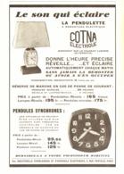 """PUB PENDULES ELECTRIQUE  """" COTNA  """"  1933  ( 1 ) - Horloges"""