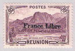 Reunion 203 MLH Overprint 1943 CV 1.00 (BP4689) - Réunion (1852-1975)