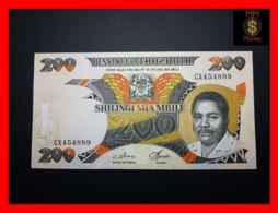 TANZANIA 200 Shilingi 1986 P. 18 A  UNC - Tanzanie