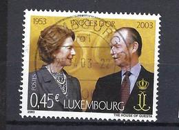 Luxemburg 2003, Nr. 1597, Goldene Hochzeit Von Großherzog Jean Und Großherzogin Joséphine Charlott Gestempelt Luxembourg - Used Stamps