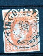 Roumanie 10 B Jaune -orange Oblitéré - 1858-1880 Moldavie & Principauté