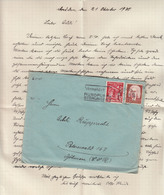 Vermeidet Rundfunk Störungen Slogan Postmark On Letter Cover Posted 1935 Dresden To Peterswaklld 200501 - Lettres & Documents