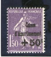 """N° 268a*_Belle Variété=""""C"""" Au Dessus De """"t""""_cote Maury = 250.00 + """"i"""" De République Coupé_(140313) - Sinking Fund"""