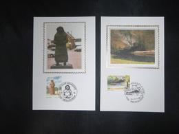 "BELG.1996 2640 & 2641 Mcards Soie/zijde : "" Tourisme "" - 1991-00"