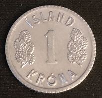 ISLANDE - ICELAND - 1 KRONA 1980 - KM 23 - ISLAND - Iceland
