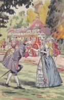 MODE Fantaisie Couple Bourgeoisie- Histoire Du Costume1786- Illustrateur Pierre A LEROUX- (lot Pat 110) - Ilustradores & Fotógrafos