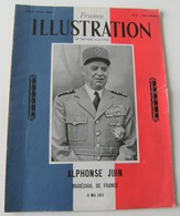 France Illustration 1952 Philippe Leclerc Maréchal Juin Garigliano WWII Monte Cassino - Storia