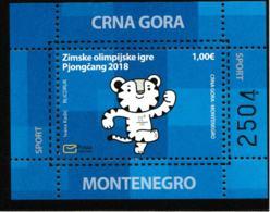 Montenegro 2018 PyeongChang Olympic Games Souvenir Sheet  MNH/** (H60) - Winter 2018: Pyeongchang