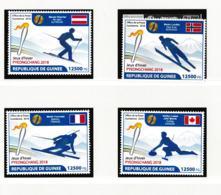 Guinee 2018 PyeongChang Olympic Games 4 Stamps MNH/** (H60) - Winter 2018: Pyeongchang
