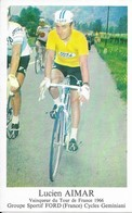 Lucien Aimar  Pub  Ford  Geminiani  1966 ('déja......que Le Temps Passe Vite......) - Radsport