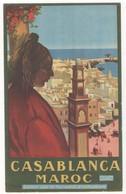 """Maroc - Casablanca. Brochure Publicitaire Recto/verso éditée Par Le Syndicat D'Initiative """"ESSI"""" - Dépliants Touristiques"""