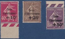 N°266 à 268__ CAISSE D'AMORTISSEMENT TIMBRES NEUFS ** 1930 - Nuevos
