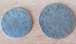France -  Lorraine - 12 Deniers Et 30 Deniers - Duché De Lorraine 1727 / 1728 - Billon - 476-1789 Monnaies Seigneuriales