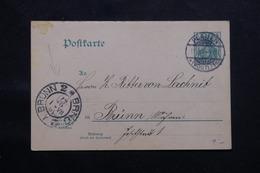 ALLEMAGNE - Entier Postal De Plauen Pour Brünn En 1904 - L 60121 - Ganzsachen