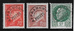 France Préoblitéré N°84/86 - Neuf ** Sans Charnière - TB - 1893-1947