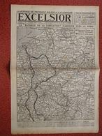 Journal EXCELSIOR 16 Octobre 1918 La Bataille De La Libération S'amplifie De DOUAI à DIXMUDE Château De MARCHAIS CAMBRAI - 1914-18