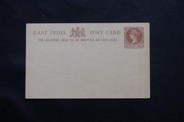 INDE / COMPAGNIE DES INDES - Entier Postal Type Victoria Non Circulé - L 60125 - India (...-1947)