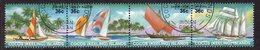 Cocos (Keeling) Islands 1987 Sailing Craft Strip Of 4, Used, SG 158/61 (AU) - Kokosinseln (Keeling Islands)