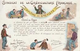 SYNDICAT DE LA GRÉVICULTURE  FRANÇAISE - DIPLÔME DE GRÉVISTE - Labor Unions