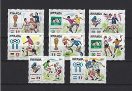 Rwanda:  881/ 888 ** - 1970-79: Nuovi