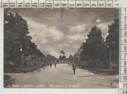 LA SPEZIA GIARDINI PUBBLICI MONUMENTO A GARIBALDI  1942 - La Spezia