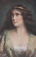 Litho Chromo Illustrateur A. ASTI -  Portrait Femme - Ich Warte Auf Dich (lot Pat 110) - Asti