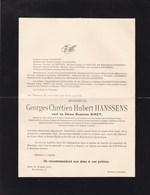 ANVERS JETTE HANSSENS Georges Veuf SIRET Suzanne  1858-1937 Famille De HEPCEE STEUK BELPAIRE - Décès