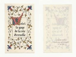 Vincennes, Communion De Françoise Lastique, 1948, église Saint-Louis, Lettrine, Enluminure - Devotion Images