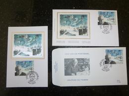 """BELG.1996 2629 FDC Soie/zijde & Mcard & FDC : """" Dag Van De Postzegel /Journée Du Timbre - Oscar Bonnevalle """" - 1991-00"""