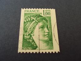 """1977-81 Oblitéré N° 1981   A   """"SABINE De Gandon  1  Vert """"  Roulette  --   Net    0.50 - 1977-81 Sabine De Gandon"""