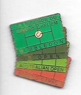 Pin' S  Sport  Ténnis, LA  LEGENDE  DU  GRAND  CHELEM  WIMBLEDON, U.S OPEN, AUSTRALIAN  OPEN, ROLAND  GARROS - Tennis