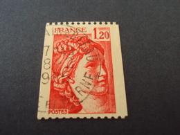 """1977-81 Oblitéré N° 1981   B   """"SABINE De Gandon  1.20 """"  Roulette  --   Net    0.80   """"   Fontainebleau"""" - 1977-81 Sabine De Gandon"""