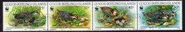 Cocos (Keeling) Islands 1992 Endangered Species, Banded Rail Bird Strip Of 4, Used, SG 265/8 (AU) - Kokosinseln (Keeling Islands)