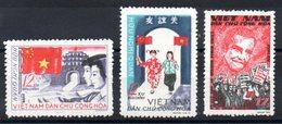 VIET-NAM NORD - YT N° 457-458-463 - Neufs ** - MNH - Cote: 10,00 € - Viêt-Nam