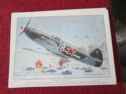 CAGI4 Superbe Gravure Francis BERGESE Sur Carton Fort 180gr , Format Env. A4 , AVIATION 39/45 : YAK 3 NORMANDIE NIEMEN - Aviation
