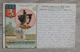 CPA CPSM     LYON  ET PUB CHICOREE NOUVELLE   BON ETAT  VOIR SCANS  TIMBRES - France